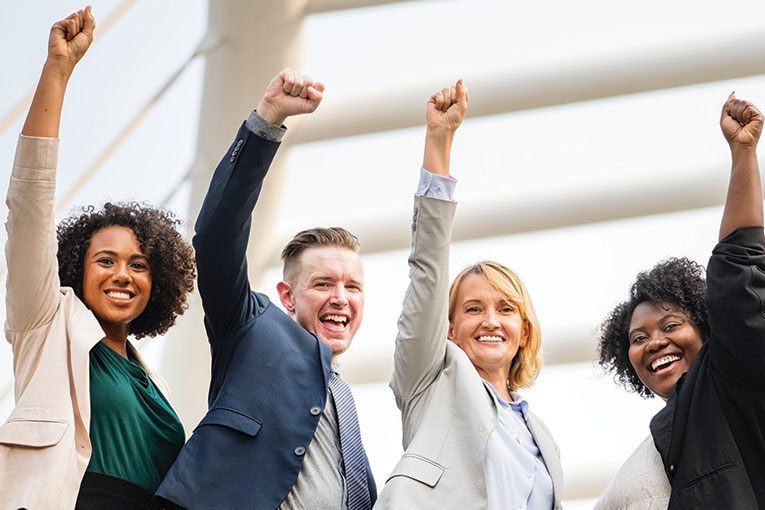 employer resources happy business professionals