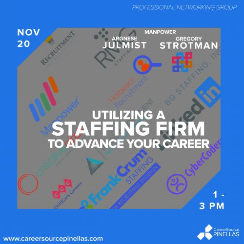 staffing firm CareerSource PInellas Professional Networking Group November 20