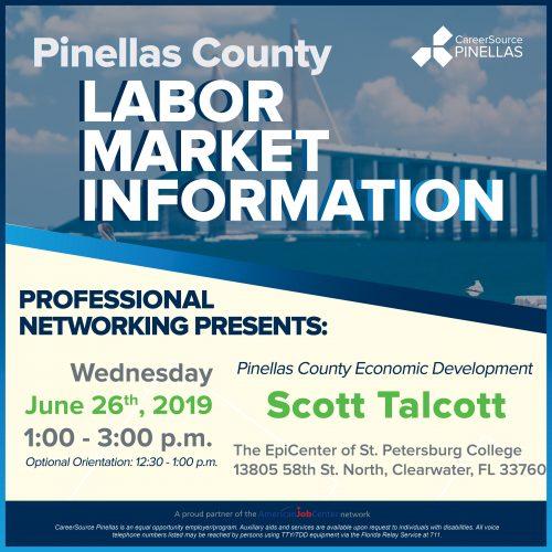 labor market information, pinellas county, data